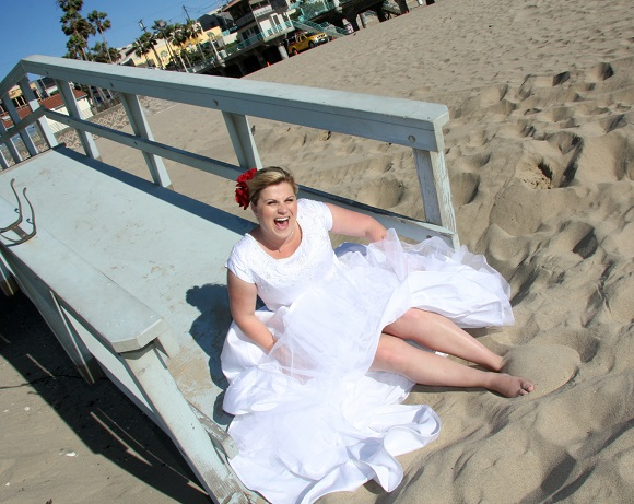 orange county beach photographer | trash the dress fun!